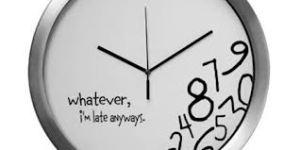 I'm late anyways
