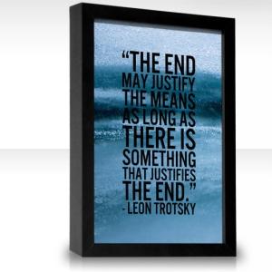 End justifying