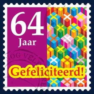 postzegelkaart-64-jaar