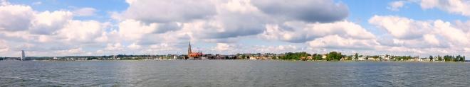 Schleswig pano vanaf Schlei