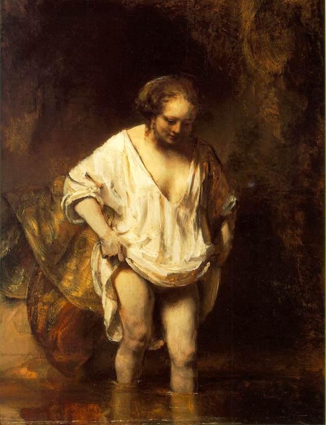 Rembrandt Hendrickje badend